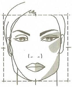 Макияж кквадратнго лица