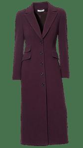 Пальто-макси свекольного цвета