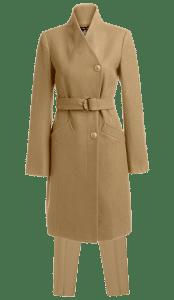 Длинное женское пальто с брюками