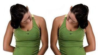 скользите подбородком по груди