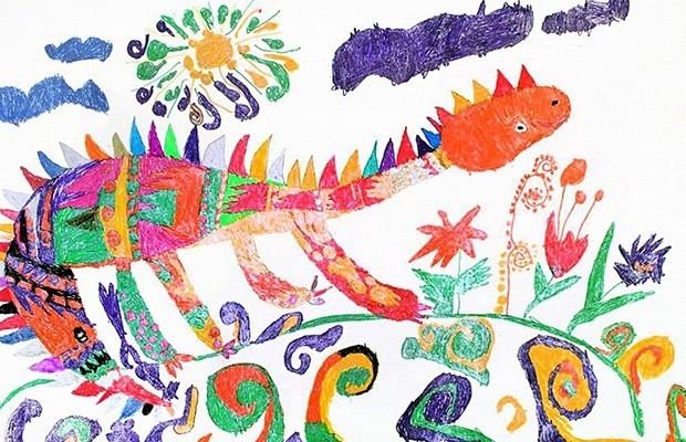 Детский рисунок дракон