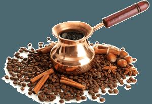 Кофе в турке с зернами