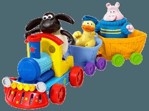 Игрушка паровозик с разными игрушками