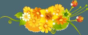 Нарисованные желтые цветы
