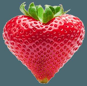 Клубника в форме сердца