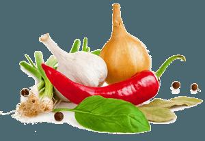 Лук, чеснок и разные специи