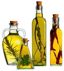 Нерафинированные растительные масла холодного отжима (подсолнечное, оливковое, горчичное, льняное)