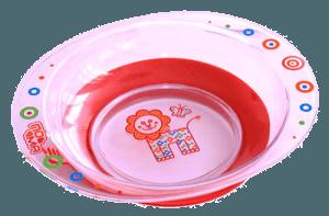 Красная тарелка из поликарбоната