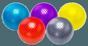 Шарики с шершавой пупырчатой поверхностью для малышей
