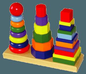 Геометрические пирамидки для малышей