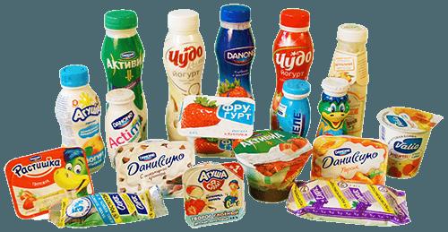 Йогурты и творожки разные