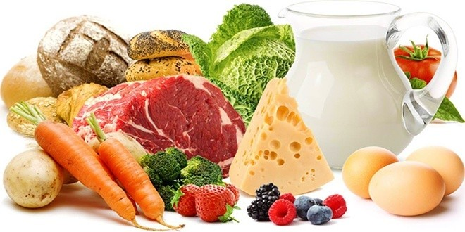 Много разных продуктов питания