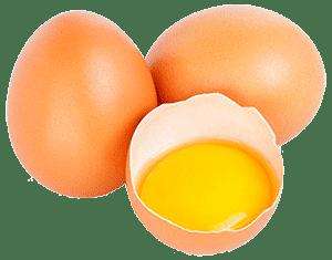Яйца целые и разбитое