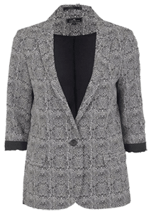 Пиджак серый для полных