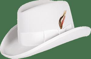 Классическая строгая белая шляпа