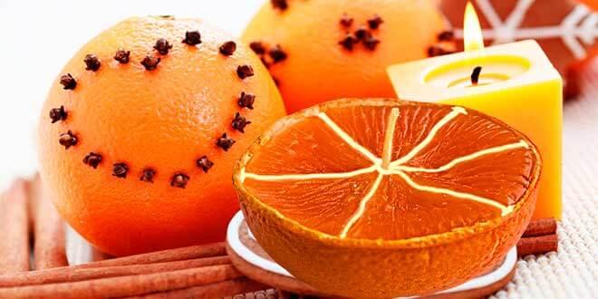 Апельсиновые свечи своими руками