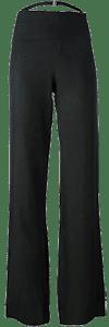 Завышенная талия брюк, небольшой клеш от бедра