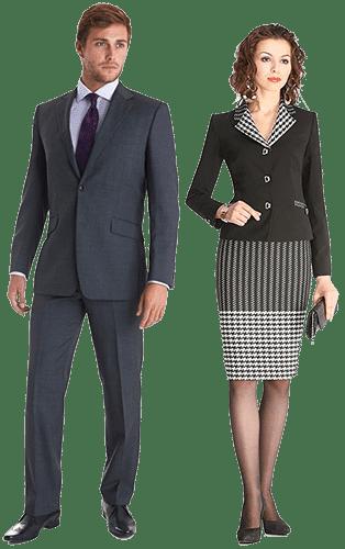 Мужчина и женщина в деловой одежде