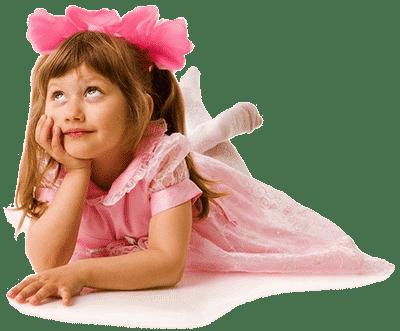 Девочка с розовым бантом