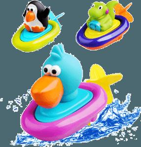 Яркие игрушки кораблики
