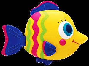 Яркая игрушка рыбка