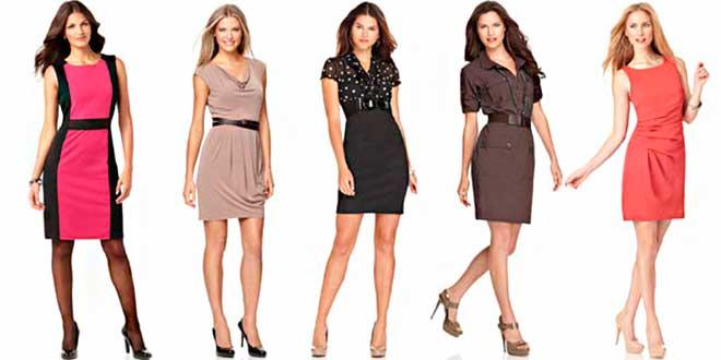 Девушки в разных платьях