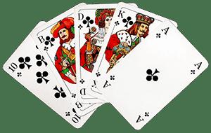 Игральные карты веером