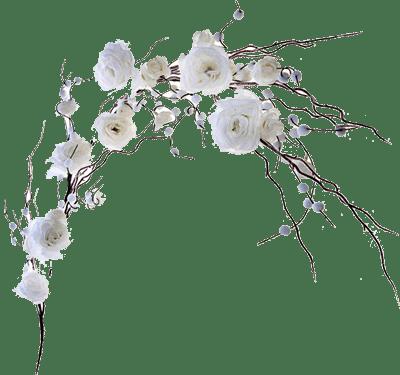 Сухая ветка с розами