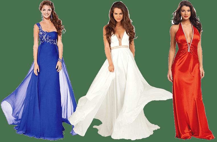 Женщины в вечерних платьях