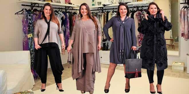 Полные женщины в магазине