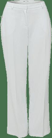 Белые брюки прямого покроя