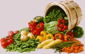 Разные овощи в ведре