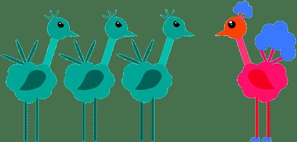Птицы завидуют - рисунок