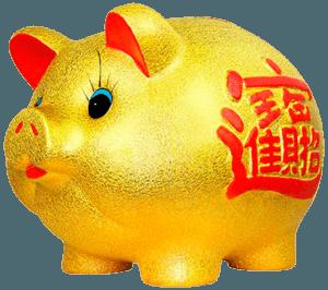 Золотая копилка свинья