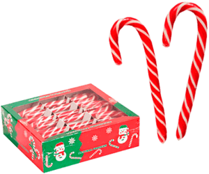 традиционные рождественские леденцы